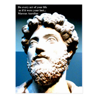 MARCUS AURELIUS quote Do every act of your life as Postcard