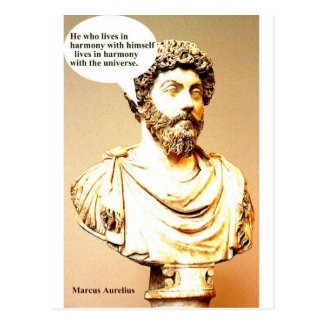 MARCUS AURELIUS quote - He who lives in harmony wi Postcard