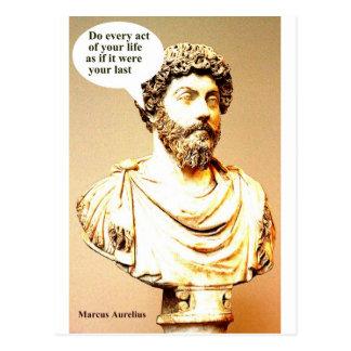 MARCUS AURELIUS quote - MARCUS AURELIUS quote Do e Postcard