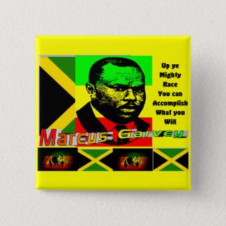 Marcus garvey 2 inch square button