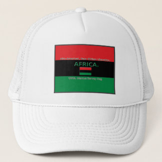 Marcus Garvey African Colors Flag Trucker Hat
