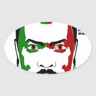 Marcus garvey I Oval Sticker