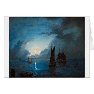 Marcus Larson hav-i-mansken-1848.water boat nature Card