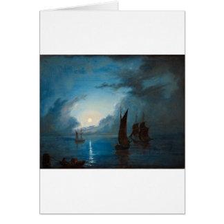 Marcus Larson hav-i-mansken-1848.water boat nature Greeting Card