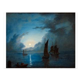 Marcus Larson hav-i-mansken-1848.water boat nature Postcard
