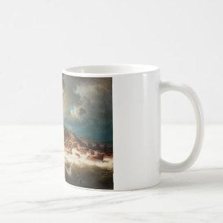 Marcus Larson - Ship by the Coast Coffee Mug