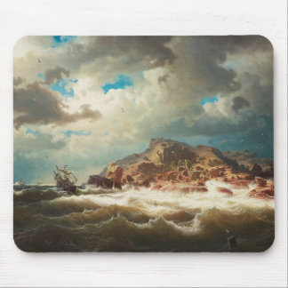 Marcus Larson - Ship by the Coast Mouse Pad