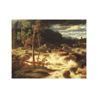 Marcus Larson - Waterfall in Smaland Canvas Print