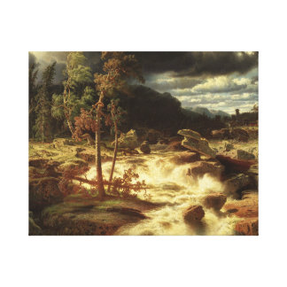Marcus Larson - Waterfall in Smaland Canvas Print