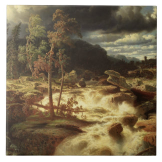 Marcus Larson - Waterfall in Smaland Tile