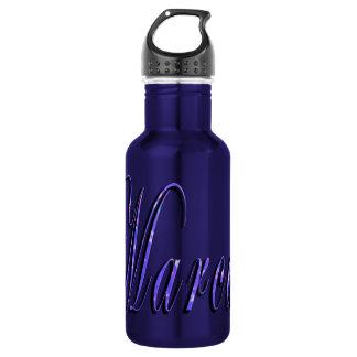 Marcus, Name, Logo, Blue Water Bottle. 532 Ml Water Bottle