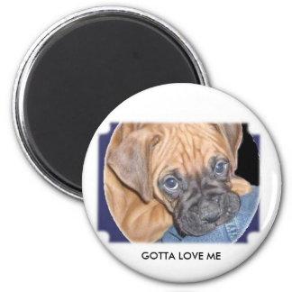marcys dog here, GOTTA LOVE ME Magnet