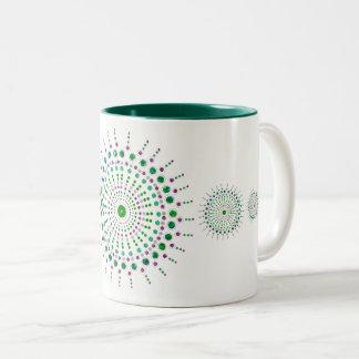 Mardalla Design Mug - Green - blue/green/pink