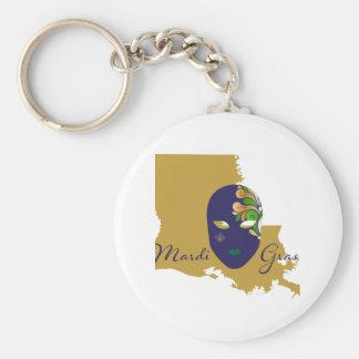 Mardi Gras 18.4 Keychain