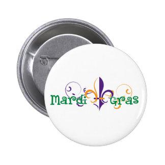 Mardi Gras 2011 Design 2 2 Inch Round Button