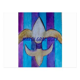 Mardi Gras 2013 Fleur De Lis Postcard