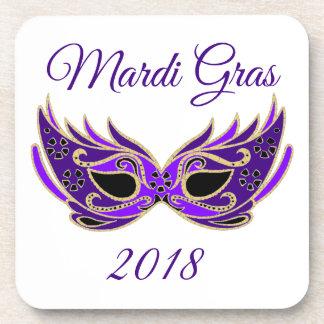Mardi Gras 2018 Mask Coaster