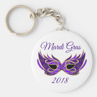 Mardi Gras 2018 Mask Keychain