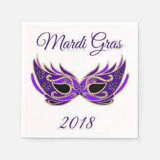 Mardi Gras 2018 Mask Paper Napkin