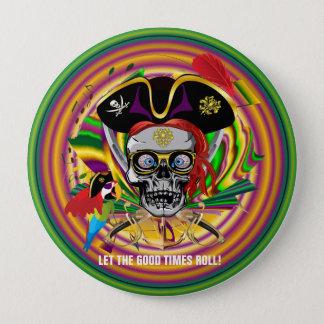 Mardi Gras 4 Inch Round Button