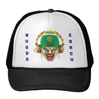 Mardi Gras and Football Coach 2 view notes please Trucker Hat