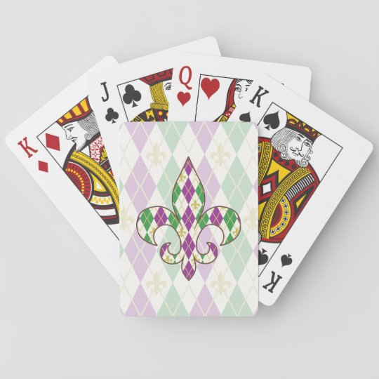 Mardi Gras Argyle Classic Playing Cards