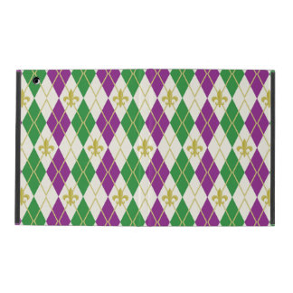Mardi Gras Argyle iPad Powis Case Case For iPad