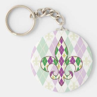 Mardi Gras Argyle Keychain