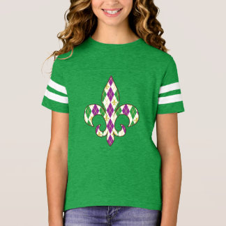 Mardi Gras Argyle Kid's and Baby Shirt