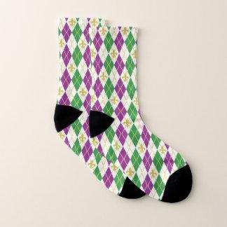 Mardi Gras Argyle Socks 1
