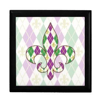 Mardi Gras Argyle Tile Box