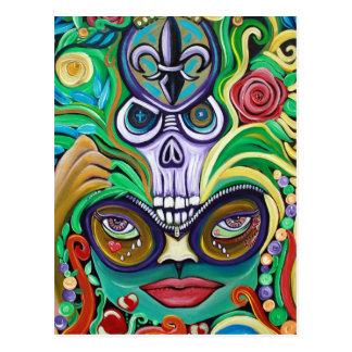 Mardi Gras Art Postcard