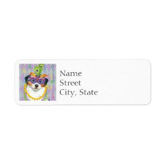 Mardi Gras Aussie Return Address Label