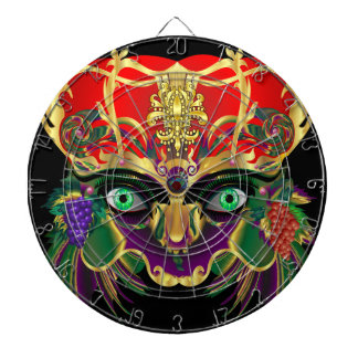 Mardi Gras Bacchus God of Wine Dartboard