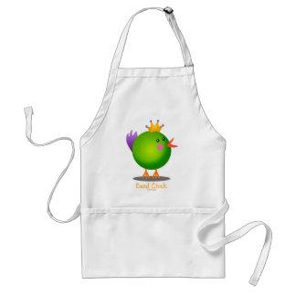 Mardi Gras Bead Chick (green) Standard Apron