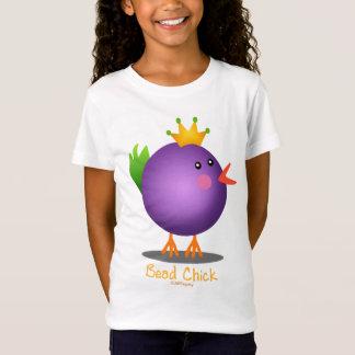Mardi Gras Bead Chick (purple) T-Shirt