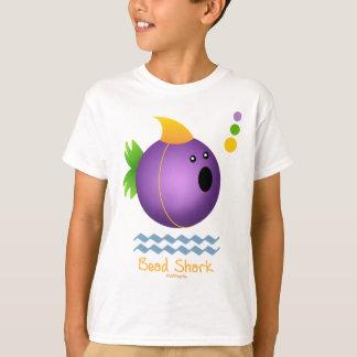 Mardi Gras Bead Shark (purple) T-Shirt