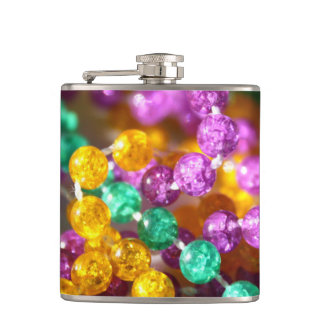 Mardi Gras Beads Flask