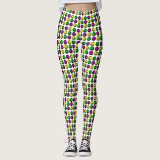 Mardi Gras Beads Leggings