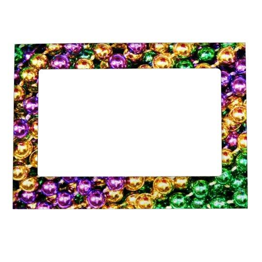 Mardi Gras Beads Magnetic Frame