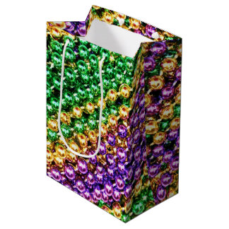 Mardi Gras Beads Medium Gift Bag
