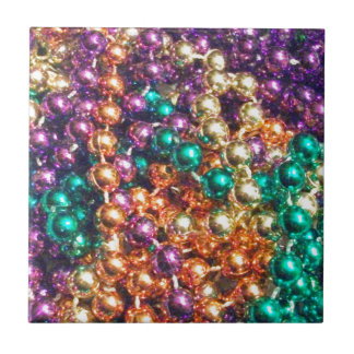 Mardi Gras Beads Tile