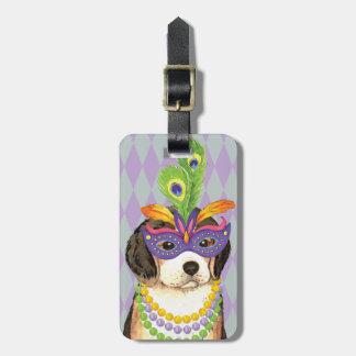 Mardi Gras Beagle Luggage Tag