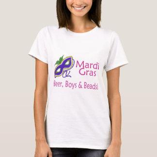 Mardi Gras Beer Boys Beads T-Shirt