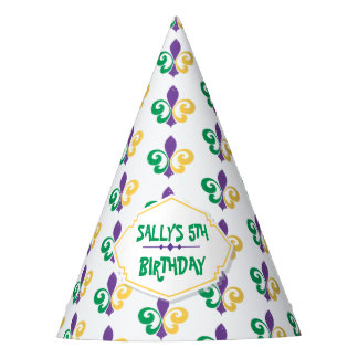 Mardi Gras Birthday Party Party Hat