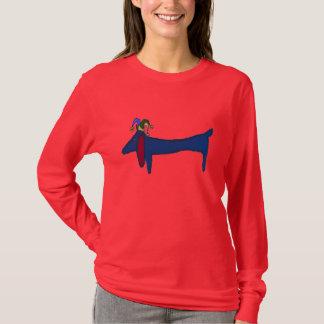 Mardi Gras Blue Dachshund T-Shirt