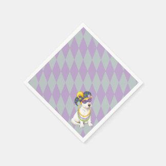Mardi Gras Bull Terrier Paper Napkins