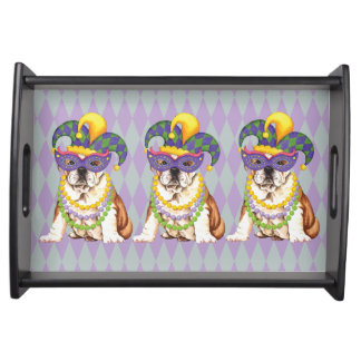 Mardi Gras Bulldog Serving Tray