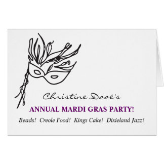 Mardi Gras! Card