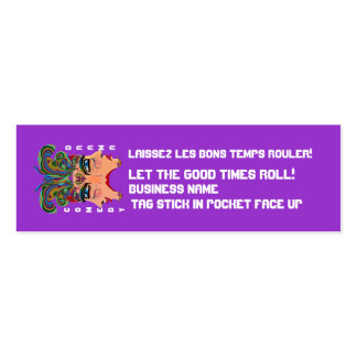 Mardi Gras Carnival Event  Please View Notes Business Card Template